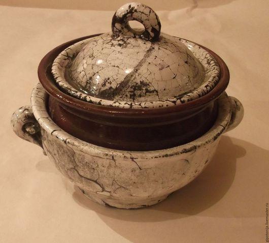 Декоративная посуда ручной работы. Ярмарка Мастеров - ручная работа. Купить Горшочек для запекания много-составной. Handmade. Керамика