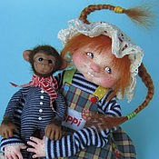 """Куклы и игрушки ручной работы. Ярмарка Мастеров - ручная работа """"Pippi"""". Handmade."""