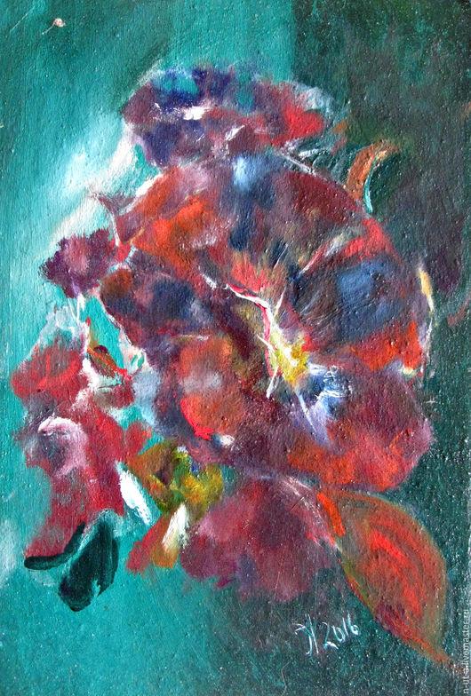 Картины цветов ручной работы. Ярмарка Мастеров - ручная работа. Купить Картина маслом Восточный ветер ( роза,цветы,фиолетовый). Handmade.