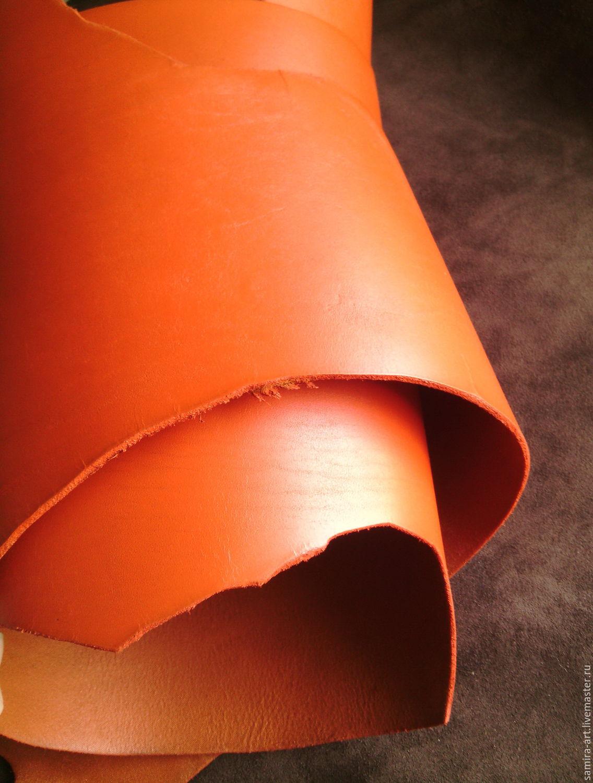 Шитье ручной работы. Ярмарка Мастеров - ручная работа. Купить Пола 3,2+мм (Прибалтика) рыжий. Handmade. Кожа