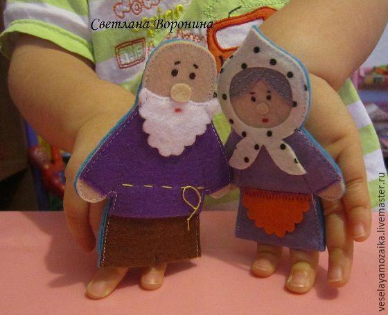 Куклы из фетра на руку своими руками выкройки