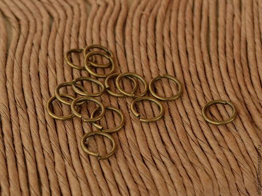 Для украшений ручной работы. Ярмарка Мастеров - ручная работа. Купить Кольца разъемные 8мм ант.бронза 20шт. Handmade.