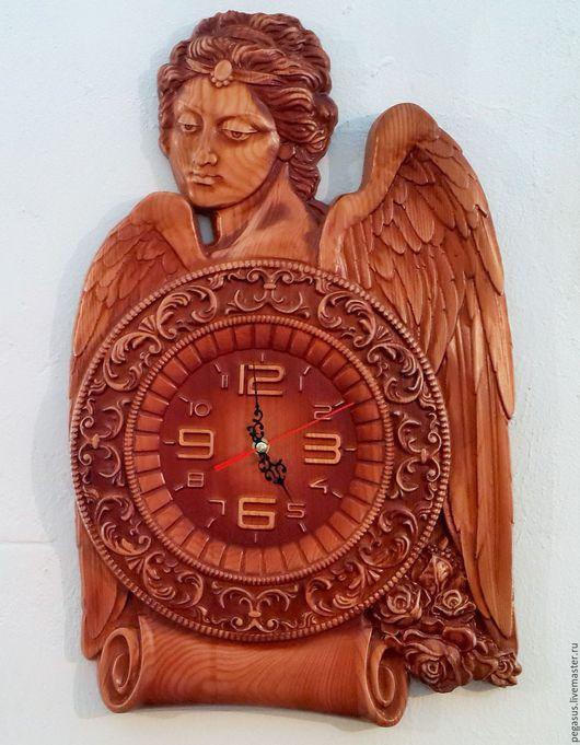 """Часы для дома ручной работы. Ярмарка Мастеров - ручная работа. Купить """"Ангел"""" часы настенные для дома.. Handmade. Ангел"""