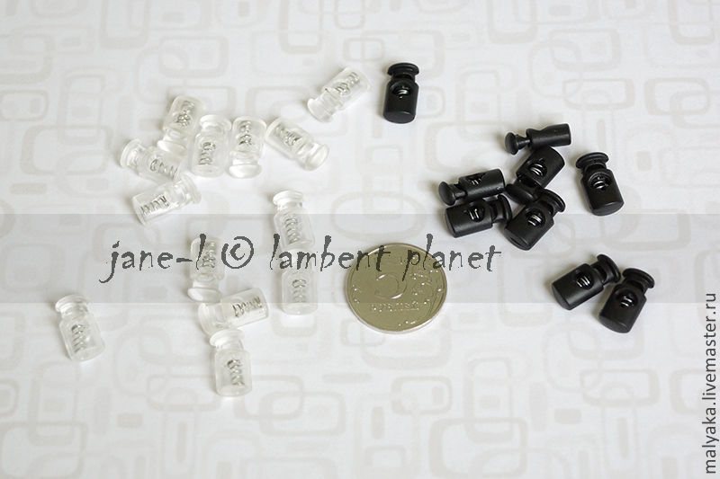 Размер 1см.  Цвета: черный, прозрачный  ЗШ-черн. = 10руб/шт. ЗШ-прозр. = 10руб/шт.