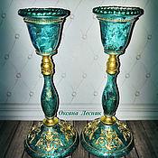 Для дома и интерьера handmade. Livemaster - original item Candlesticks