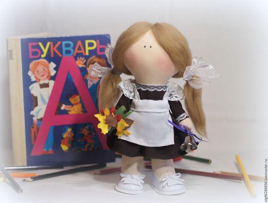 Куклы тыквоголовки ручной работы. Ярмарка Мастеров - ручная работа. Купить Кукла малышка Школьница. Handmade. Подарок на день учителя
