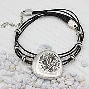 handmade. Livemaster - original item Ananta necklace on a leather string. Handmade.