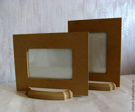 Заготовка фоторамка под фото 10х15 см на подставке для декорирования или росписи