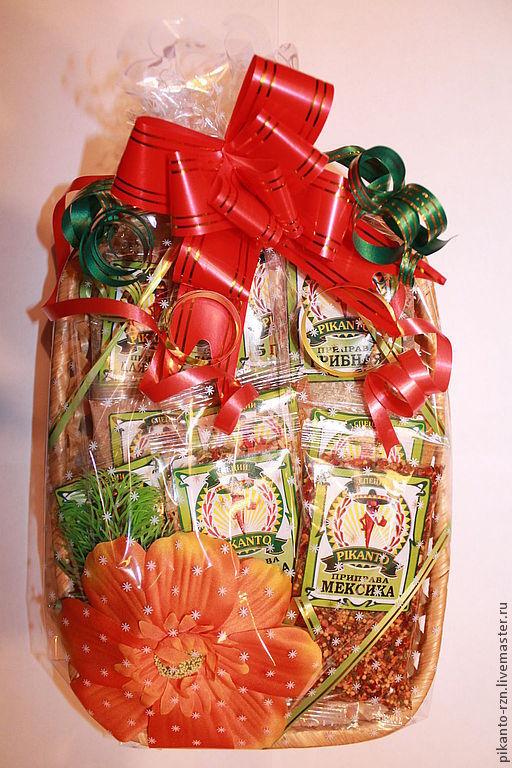 Персональные подарки ручной работы. Ярмарка Мастеров - ручная работа. Купить Подарочный набор из специй №7. Handmade. Подарок, бант