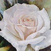 Картины и панно handmade. Livemaster - original item White rose.. Handmade.