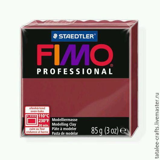 Для украшений ручной работы. Ярмарка Мастеров - ручная работа. Купить Бордо (23) - Fimo Professional. Handmade. Fimo, professional