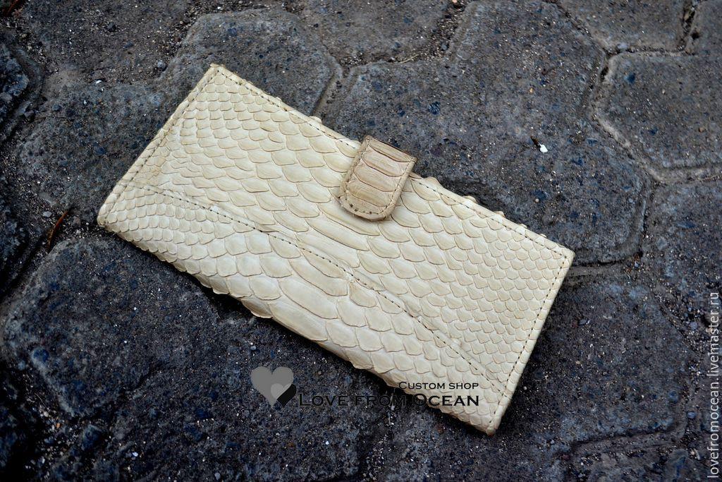 Кошелёк портмоне из натуральной кожи питона, Кошельки, Москва,  Фото №1