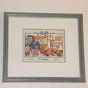 """Картины и панно ручной работы. Ярмарка Мастеров - ручная работа вышитая картина """" Ученики"""". Handmade."""