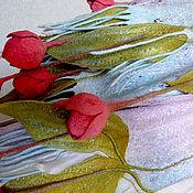 """Аксессуары ручной работы. Ярмарка Мастеров - ручная работа Палантин """" Весенние тюльпаны"""". Handmade."""