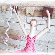 Куклы и игрушки ручной работы. Ярмарка Мастеров - ручная работа Гимнастка по мотивам Tilda. Handmade.