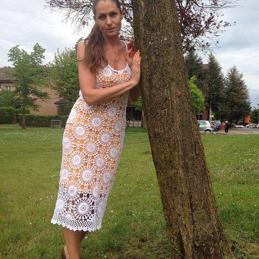 Платья ручной работы. Ярмарка Мастеров - ручная работа. Купить Вязаное крючком платье. Handmade. Платье нарядное, платье вязаное