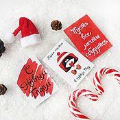 Открытки handmade. Livemaster - original item Mini postcards. Christmas Tags (tags) for bouquets. Handmade.