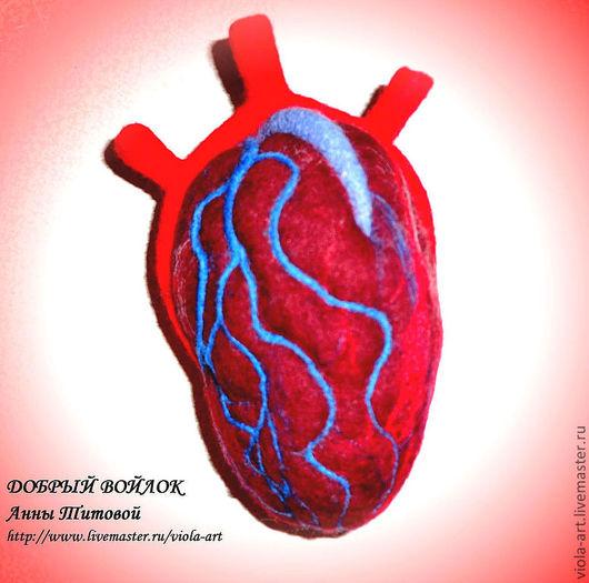 Подарки для влюбленных ручной работы. Ярмарка Мастеров - ручная работа. Купить Подарок любимым - Сердце. Handmade. Ярко-красный, войлок