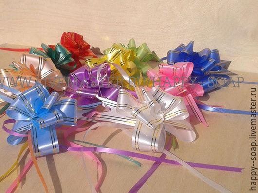 Упаковка ручной работы. Ярмарка Мастеров - ручная работа. Купить Бант-бабочка с золотой полосой, 7 цветов.. Handmade. Бант