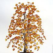 Цветы и флористика ручной работы. Ярмарка Мастеров - ручная работа Осенняя берёзка из янтаря.. Handmade.