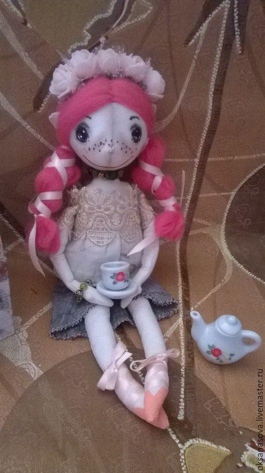 Куклы тыквоголовки ручной работы. Ярмарка Мастеров - ручная работа. Купить Гномочка Масечка. Handmade. Бежевый, сказочный персонаж, гномочка