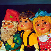 Кукольный театр ручной работы. Ярмарка Мастеров - ручная работа Театральные куклы планшетные.Комплект театральных кукол. Handmade.