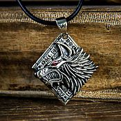 Украшения handmade. Livemaster - original item Pendant Of The Space Wolves. Warhammer 40,000 brass Nickel silver. Handmade.
