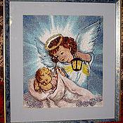 """Картины и панно ручной работы. Ярмарка Мастеров - ручная работа Картина """"Ангел-хранитель"""". Handmade."""