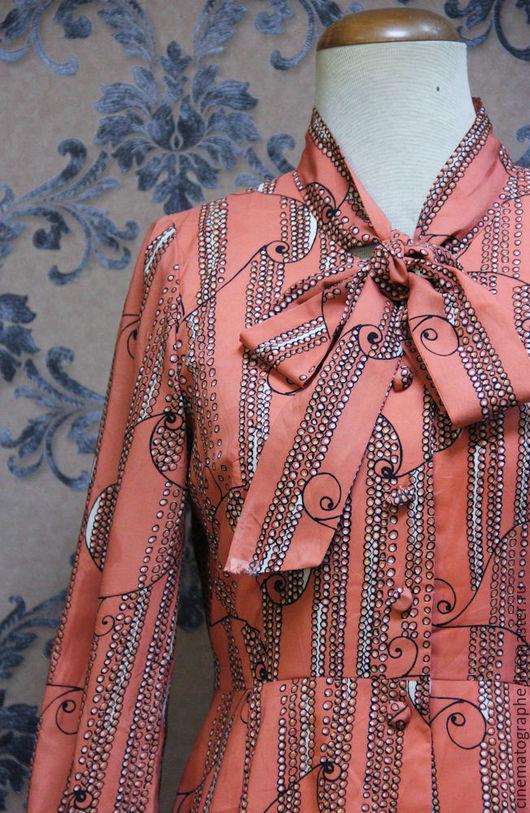 Одежда. Ярмарка Мастеров - ручная работа. Купить Платье JAPAN 60-е винтаж бант. Handmade. Комбинированный, винтаж
