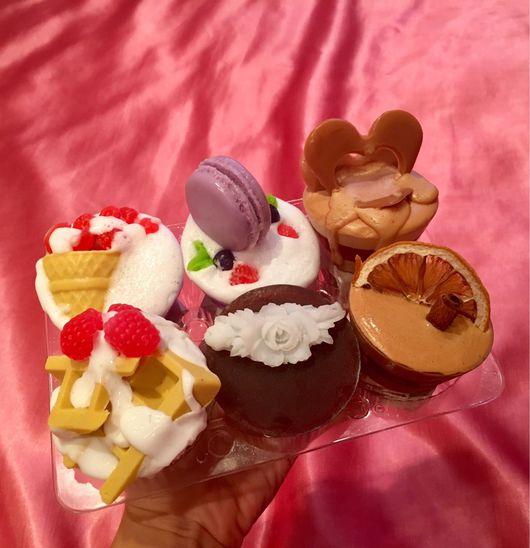 Мыло ручной работы. Ярмарка Мастеров - ручная работа. Купить Набор мыльные сладости. Handmade. Кекс, натуральное мыло