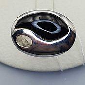Украшения handmade. Livemaster - original item Silver ring with black onyx 19h9 mm. Handmade.