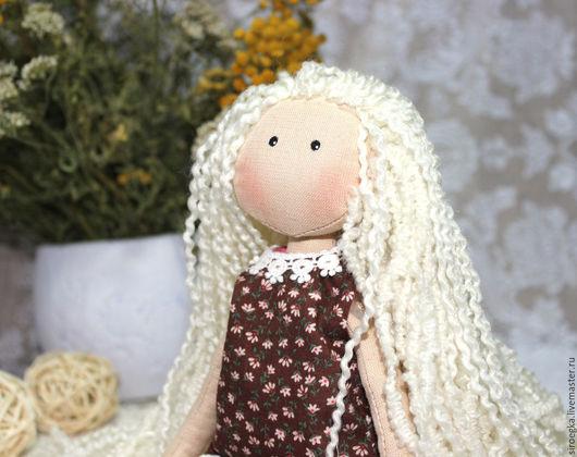 Куклы тыквоголовки ручной работы. Ярмарка Мастеров - ручная работа. Купить Сонечка. Handmade. Купить куклу из ткани, куколка, белый