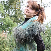 """Одежда ручной работы. Ярмарка Мастеров - ручная работа """"Кудрявая зелень"""". Handmade."""