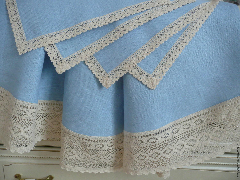 Linen table linen' Blue skies', Tablecloths, Ivanovo,  Фото №1