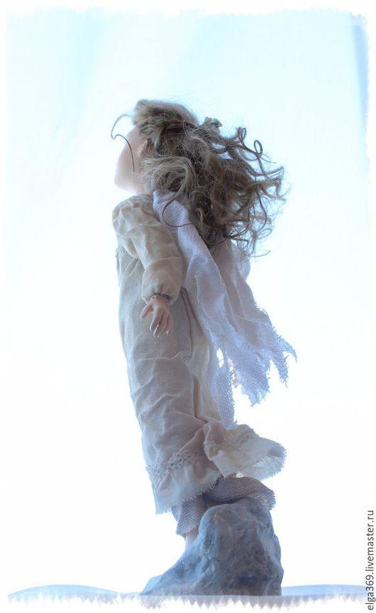 Коллекционные куклы ручной работы. Ярмарка Мастеров - ручная работа. Купить Авторская кукла ангел хранитель Ангелёнушка: Ветер добрых перемен.... Handmade.