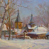 Картины и панно ручной работы. Ярмарка Мастеров - ручная работа Зима на Алтае. Handmade.