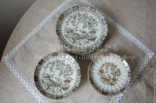 Винтажная посуда. Ярмарка Мастеров - ручная работа. Купить Тарелки десертные, винтажный японский фарфор. Handmade. Комбинированный, тарелка, антиквариат