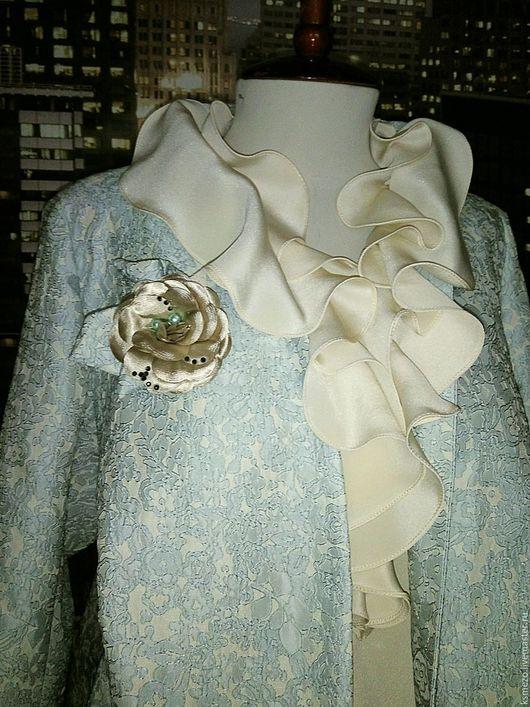 """Пиджаки, жакеты ручной работы. Ярмарка Мастеров - ручная работа. Купить Пальто лёгкое """"Жаккард"""" свадебное. Handmade. Мятный"""
