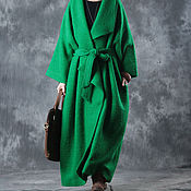 Одежда handmade. Livemaster - original item Green coat large size. Handmade.