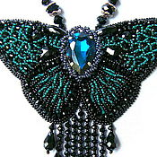 """Украшения ручной работы. Ярмарка Мастеров - ручная работа """"Изумрудные Крылья"""" колье ввиде бабочки. Handmade."""
