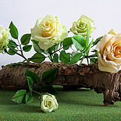 Цветы и флористика ручной работы. Ярмарка Мастеров - ручная работа Мы в нежных розах ценим аромат.... Handmade.