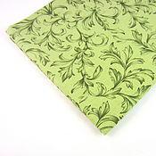 Материалы для творчества ручной работы. Ярмарка Мастеров - ручная работа Ткань Версальский зеленый, американский хлопок 100%. Handmade.