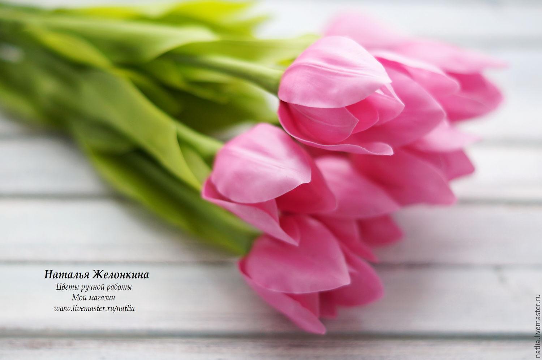 Тюльпаны из холодного фарфора мастер класс с пошаговым