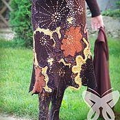 """Одежда ручной работы. Ярмарка Мастеров - ручная работа Юбка """"Шоколадный терракот"""". Handmade."""