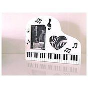 Фоторамки ручной работы. Ярмарка Мастеров - ручная работа Настольная фоторамка рояль. Handmade.