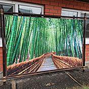 Панно ручной работы. Ярмарка Мастеров - ручная работа Панно бамбуковая роща. Handmade.