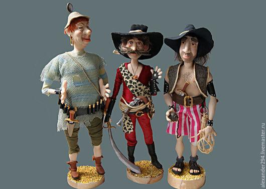 Коллекционные куклы ручной работы. Ярмарка Мастеров - ручная работа. Купить Бармалей и его команда. Handmade. Разноцветный, авторская кукла