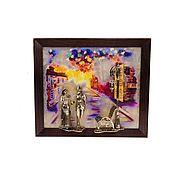 """Картины ручной работы. Ярмарка Мастеров - ручная работа КАРТИНА """"Вечерняя прогулка. Улица"""". Handmade."""