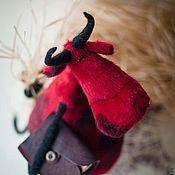 """Куклы и игрушки ручной работы. Ярмарка Мастеров - ручная работа игрушка """"Бык романтик"""". Handmade."""
