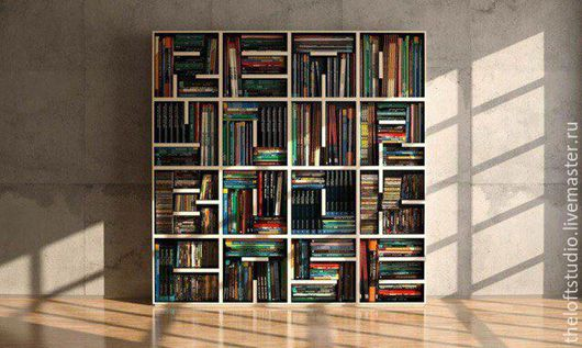 Мебель ручной работы. Ярмарка Мастеров - ручная работа. Купить Книжный стеллаж в стиле Loft. Handmade. Черный, мебель на заказ